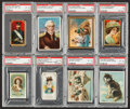 "Non-Sport Cards:Lots, 1880's-1910's ""T"" and ""N"" Military High End PSA-Graded Group (8). ..."