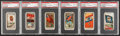 Non-Sport Cards:Lots, 1880's Allen & Ginter Flags Theme Tobacco Card PSA-Graded Group(6). ...