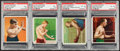 Boxing Cards:General, 1910 T218 Mecca Champions PSA-Graded Group of (4). ...