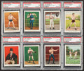 Boxing Cards:General, 1910 T220 Mecca White Borders Boxing PSA-Graded Group (8Different). ...