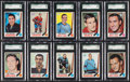 Hockey Cards:Lots, 1969 Topps & O-Pee-Chee Hockey High Grade Collection (22). ...