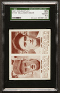 Baseball Cards:Singles (1940-1949), 1941 Double Play Ted Williams/Jim Tabor #57-58 SGC 55 VG/EX+ 4.5....