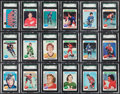 Hockey Cards:Lots, 1975 Topps Hockey High Grade SGC Collection (18). ...