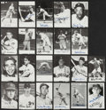 Baseball Collectibles:Others, Baseball Greats Signed Postcards, Photographs and Oversized CardsLot of 22....