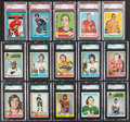 Hockey Cards:Lots, 1967 - 1982 Topps & O-Pee-Chee Hockey Card Graded Collection(80). ...