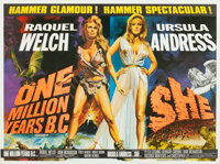 "One Million Years B.C./She Combo (Warner-Pathe, R-1968). British Quad (30"" X 40"")"