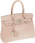 Luxury Accessories:Bags, Hermes 30cm Dalmatien Buffalo Leather Birkin Bag with Palladium Hardware. ...