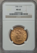 Liberty Eagles: , 1900 $10 MS62 NGC. NGC Census: (2535/2032). PCGS Population(1645/1064). Mintage: 293,960. Numismedia Wsl. Price for proble...
