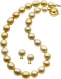 Estate Jewelry:Suites, South Sea Cultured Pearl, Gold Jewelry Suite. ...