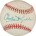 Autographs:Baseballs, 1954 Charlie Keller Single Signed Baseball....
