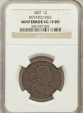 Large Cents, 1807 1C Rotated Die VG10 NGC. NGC Census: (5/30). PCGS Population(2/59). Mintage: 829,221. Numismedia Wsl. Price for prob...