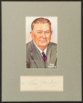 Baseball Collectibles:Others, Tom Yawkey Signed Cut Signature Display....