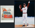Miscellaneous Collectibles:General, Jeff Gordon and Pete Rose Signed Prints Lot of 2....
