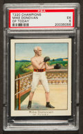 Boxing Cards:General, 1910 T220 Mecca Champions Mike Donovan, Of Today PSA EX 5....