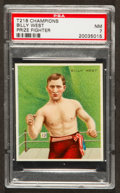 Boxing Cards:General, 1910 T218 Mecca Billy West PSA NM 7 - Pop Four, Two Higher! ...