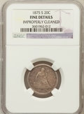Twenty Cent Pieces, 1875-S 20C -- Improperly Cleaned -- NGC Details. Fine. NGC Census:(55/2359). PCGS Population (57/3016). Mintage: 1,155...