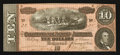 Confederate Notes:1864 Issues, Low Serial Number T68 $10 1864 PF-38 Cr. 550. ...