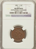 Half Cents, 1851 1/2 C -- Improperly Cleaned -- NGC Details. AU. C-1. NGCCensus: (14/513). PCGS Population (50/412). Mintage: 147,...