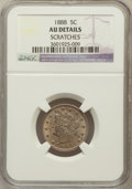 Liberty Nickels, 1888 5C -- Scratches -- NGC Details. AU. NGC Census: (2/303). PCGSPopulation (4/396). Mintage: 10,720,483. Numismedia ...