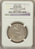 Seated Half Dollars, 1862-S 50C -- Improperly Cleaned -- NGC Details. AU. NGC Census:(5/45). PCGS Population (8/54). Mintage: 1,352,000. Nu...