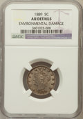 Liberty Nickels, 1889 5C -- Environmental Damage -- NGC Details. AU. NGC Census:(0/540). PCGS Population (4/530). Mintage: 15,881,361. ...