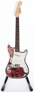 Musical Instruments:Electric Guitars, 1964 Fender Duo-Sonic Hippie Painted Solid Body Electric Guitar,Serial # L20735....