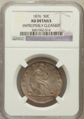 Seated Half Dollars, 1876 50C -- Improperly Cleaned -- NGC Details. AU. NGC Census:(12/246). PCGS Population (33/299). Mintage: 8,419,150. ...