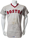 Baseball Collectibles:Uniforms, 1975 Jim Rice Game Worn Boston Red Sox Jersey....