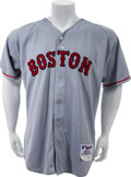 Baseball Collectibles:Uniforms, 2000 Nomar Garciaparra Game Worn Boston Red Sox Jersey. ...