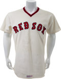 Baseball Collectibles:Uniforms, 1978 Dwight Evans Game Worn Boston Red Sox Jersey. ...