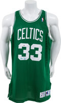 Basketball Collectibles:Uniforms, 1991-92 Larry Bird Game Worn Signed Boston Celtics Jersey. ...