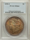 Morgan Dollars: , 1898-S $1 MS64 PCGS. PCGS Population (1158/471). NGC Census:(604/113). Mintage: 4,102,000. Numismedia Wsl. Price for probl...