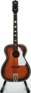 Musical Instruments:Acoustic Guitars, 1960s Harmony Stella Red Sunburst Acoustic Guitar....