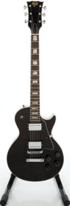 Musical Instruments:Electric Guitars, 1980s Hondo II Les Paul Copy Black Solid Body Electric Guitar....