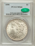 Morgan Dollars: , 1898 $1 MS66 PCGS. CAC. PCGS Population (597/35). NGC Census:(493/16). Mintage: 5,884,735. Numismedia Wsl. Price for probl...