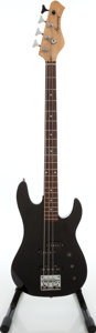 Musical Instruments:Bass Guitars, 1980s Harmony Black Electric Bass Guitar....