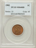 Indian Cents: , 1902 1C MS64 Red and Brown PCGS. PCGS Population (447/93). NGCCensus: (275/176). Mintage: 87,376,720. Numismedia Wsl. Pric...