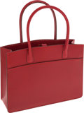 Luxury Accessories:Bags, Hermes Rouge H Calf Box Leather Mini Whitebus Tote Bag. ...