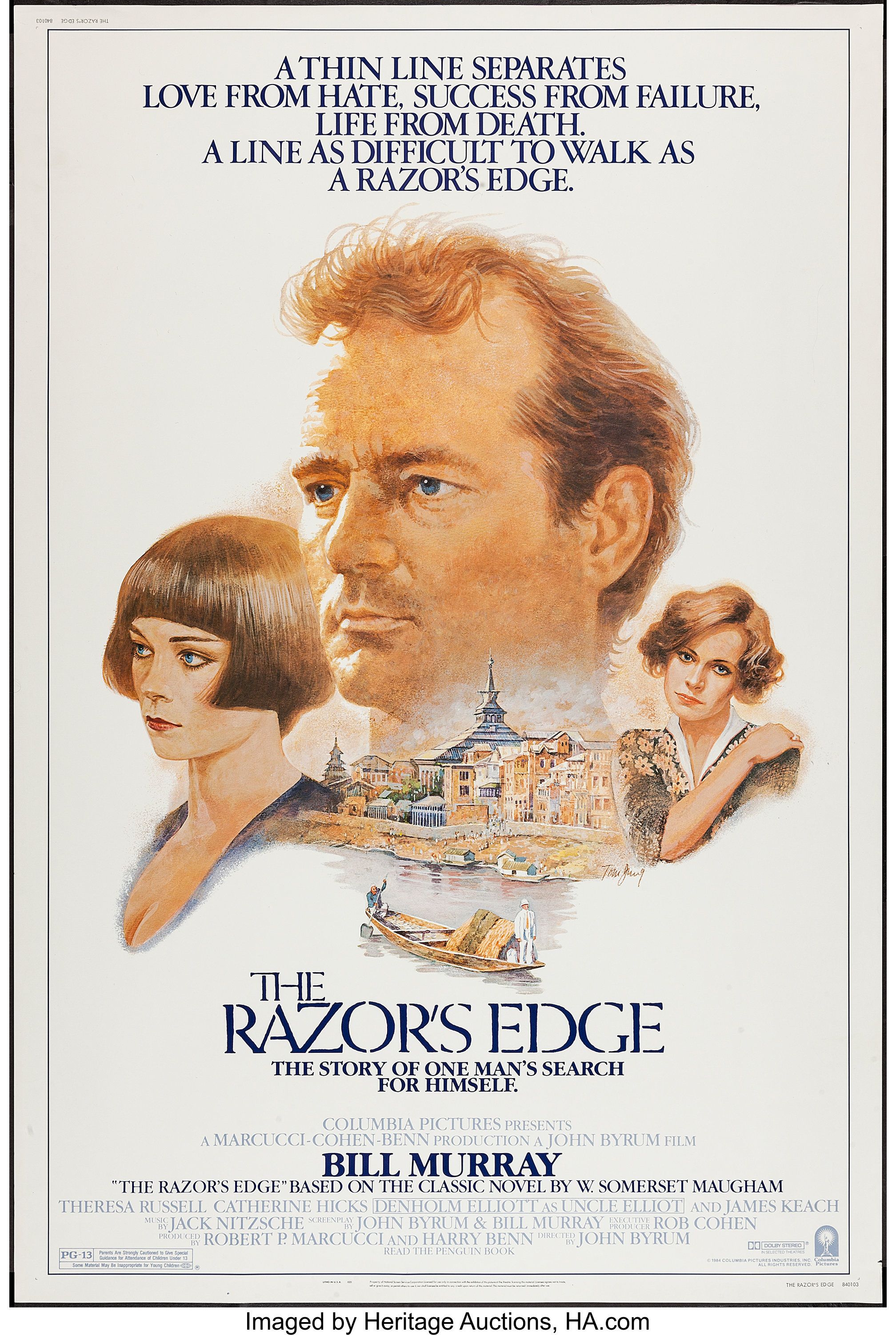 The Razor S Edge And Others Lot Columbia 1984 Posters 5 40 Lot 53397 Heritage Auctions