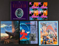 """Movie Posters:Animation, Animation Book Lot (Various, 1991-1996). Softbound Book (1) andHardbound Books (4) (Multiple Pages, 10.5"""" X 10.25"""" to 11.5'...(Total: 5 Items)"""