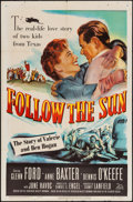 "Movie Posters:Sports, Follow the Sun (20th Century Fox, 1951). One Sheet (27"" X 41""), Title Lobby Card & Lobby Cards (2) (11"" X 14""). Sports.. ... (Total: 4 Items)"