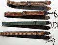 Musical Instruments:Miscellaneous, 1970s Vintage Guitar Strap Lot of 4....