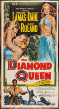 "Movie Posters:Adventure, The Diamond Queen (Warner Brothers, 1953). Three Sheet (41"" X 78"").Adventure.. ..."