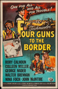 """Movie Posters:Western, Four Guns to the Border (Universal International, 1954). One Sheet (27"""" X 41""""). Western.. ..."""