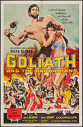 """Movie Posters:Adventure, Goliath and the Barbarians (American International, 1959). OneSheet (27"""" X 41""""). Adventure.. ..."""