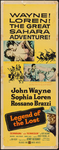 "Movie Posters:Adventure, Legend of the Lost (United Artists, 1957). Insert (14"" X 36"").Adventure.. ..."