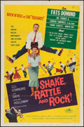 "Movie Posters:Rock and Roll, Shake, Rattle and Rock (American International, 1956). One Sheet(27"" X 41""). Rock and Roll.. ..."