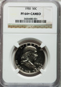 Proof Franklin Half Dollars: , 1950 50C PR64+ Cameo NGC. NGC Census: (178/217). PCGS Population(117/127). Numismedia Wsl. Price for problem free NGC/PCG...