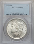 Morgan Dollars: , 1883-O $1 MS66 PCGS. PCGS Population (685/35). NGC Census:(1002/32). Mintage: 8,725,000. Numismedia Wsl. Price for problem...