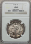 Walking Liberty Half Dollars: , 1916 50C MS63 NGC. NGC Census: (244/536). PCGS Population(287/688). Mintage: 608,000. Numismedia Wsl. Price for problemfr...